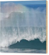 Pipeline Rainbow Wood Print