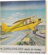 Piper Airplane  Wood Print