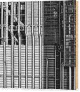 Pipes And Metal - Leeds Wood Print