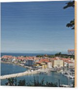 Piran Slovenia Gulf Of Trieste On The Adriatic Sea From The Punt Wood Print