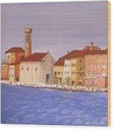 Piran The Lighthouse Wood Print