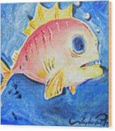 Piranha Art Wood Print by Joseph Palotas