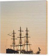 Pirate Boat Wood Print