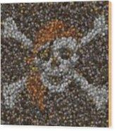 Pirate Coins Mosaic Wood Print