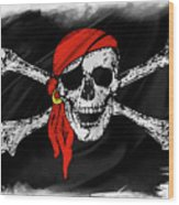 Pirate Flag Wood Print
