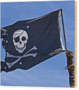 Pirate Flag Skull And Cross Bones Wood Print by Garry Gay