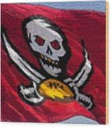 Pirate Football Wood Print