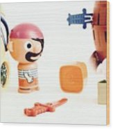 Pirate Play Wood Print