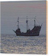 Pirate Ship At Clearwater Wood Print