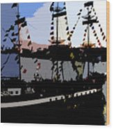 Pirate Ship Wood Print