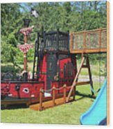 Pirate Ship Playhouse Wood Pirate Ship Playhouses Wood Print