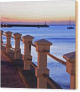 Piriapolis Coast Wood Print