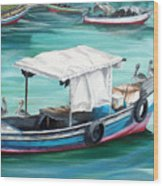 Pirogue Fishing Boat  Wood Print