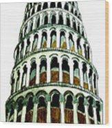 Pisa Erected Wood Print