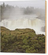 Pisew Falls Northern Manitoba Canada Wood Print