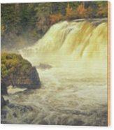 Pisew Falls Wood Print