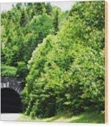 Pisgah Tunnel Wood Print