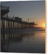Pismo Beach Pier California 4 Wood Print