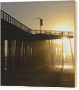 Pismo Beach Pier California 8 Wood Print