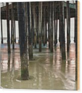 Pismo Beach Pier Wood Print