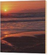 Pismo Beach Sunset Wood Print