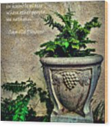 Pissarro Inspirational Quote Wood Print