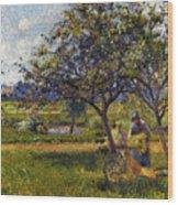 Pissarro: Wheelbarr., 1881 Wood Print