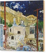 Pissouri Village Wood Print