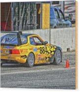 Pist 'n Broken Racing Wood Print