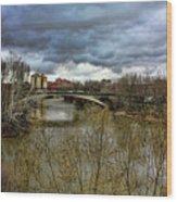 Pisuerga River Wood Print