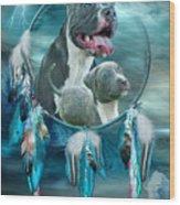 Pit Bulls - Rez Dog Wood Print