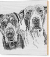 @pitbull.jack.and.miele Wood Print