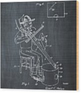 Pitch Fork Fiddle And Drum Patent 1936 - Chalk Wood Print