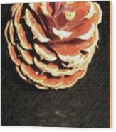 Pitch Pine Cone Wood Print