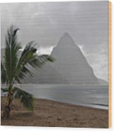 Pitons - St. Lucia Wood Print