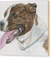 Pittbull Dog Wood Print