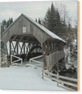 Pittsburg-clarksville Covered Bridge Wood Print