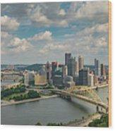 Pittsburg Skyline Wood Print