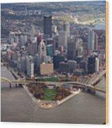 Pittsburgh 8 In Color  Wood Print by Emmanuel Panagiotakis