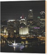 Pittsburgh At Night Wood Print
