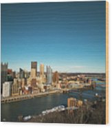 Pittsburgh Wood Print