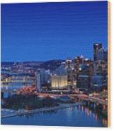 Pittsburgh Wood Print
