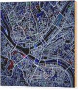 Pittsburgh Map 1 Wood Print
