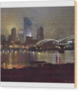 Pittsburgh Night Wood Print