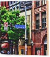 Pittsburgh Pa - Liberty Ave And Smithfield Street Wood Print