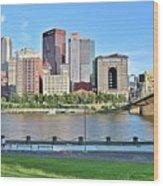 Pittsburgh Pa Panoramic Wood Print