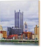 Pittsburgh Pa Skyline Wood Print