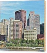 Pittsburgh Panorama June 2017 Wood Print