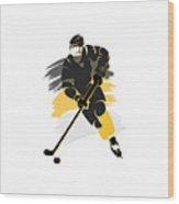 Pittsburgh Penguins Player Shirt Wood Print