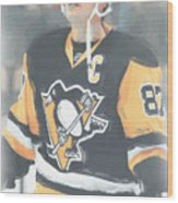 Pittsburgh Penguins Sidney Crosby 3 Wood Print